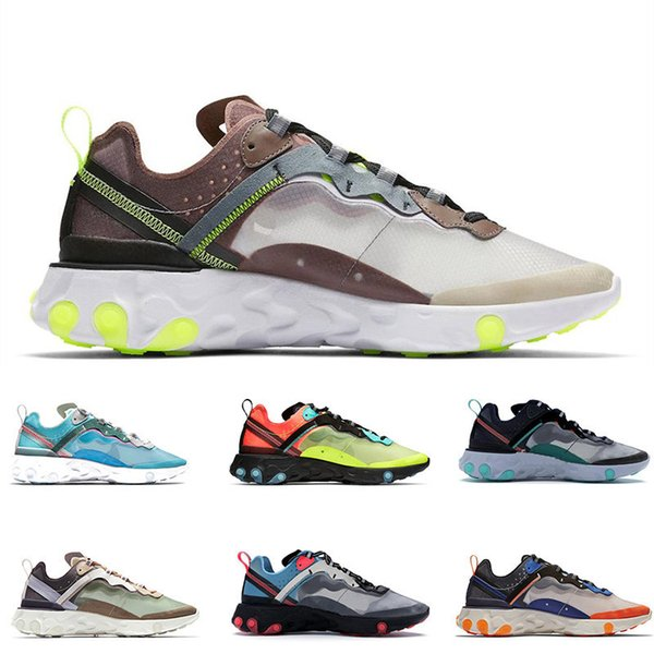 2019 Reagire Element 87 Undercover Scarpe da corsa delle donne Mens Trainers vela riflettente Bone traspirante Sport Jogging Designer scarpe da tennis Taglia 36-45