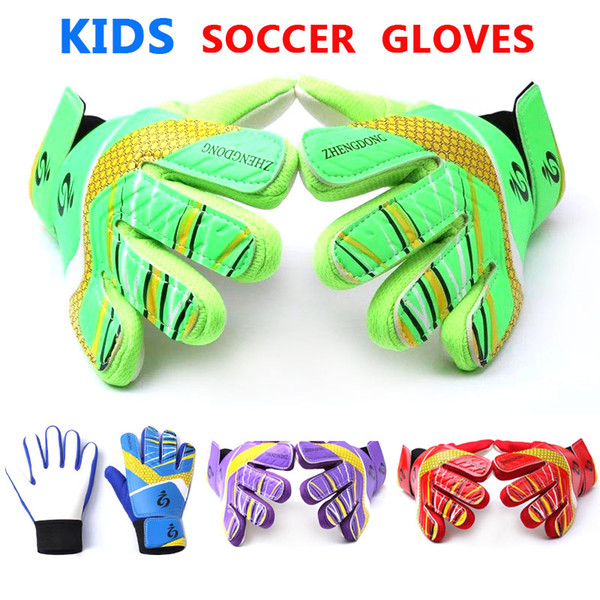 Youth Boys Kids Soccer Gloves for Children Soccer Goalkeeper Gloves Training Football Goalkeeper Kids Gloves Team Game Protect Finger Goalie