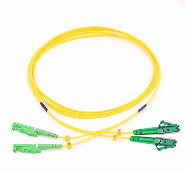 Cable de parche de fibra óptica de fibra de fibra óptica 10metros Jumper SM DX E2000 / APC-LC / APC