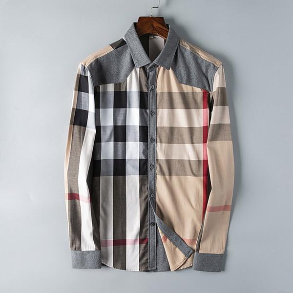 2019 американский бизнес-бренд самосовершенствование клетчатая рубашка, модный бренд с длинными рукавами хлопок повседневная рубашка полосатый co-dress рубашка Медуза Шир