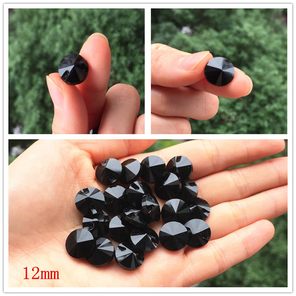 top popular 20pcs High-grade black Crystal gemstone buttons Sewing buttons for shirt Crystal for garments Sewing Accessories 12mm 2021