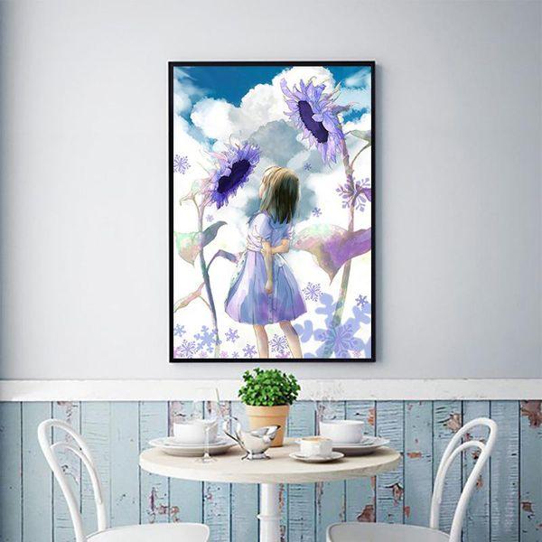3D diamond painting, girl, sun flower, diamond embroidery, Christmas decoration, mosaic, rhinestone painting, cross stitch