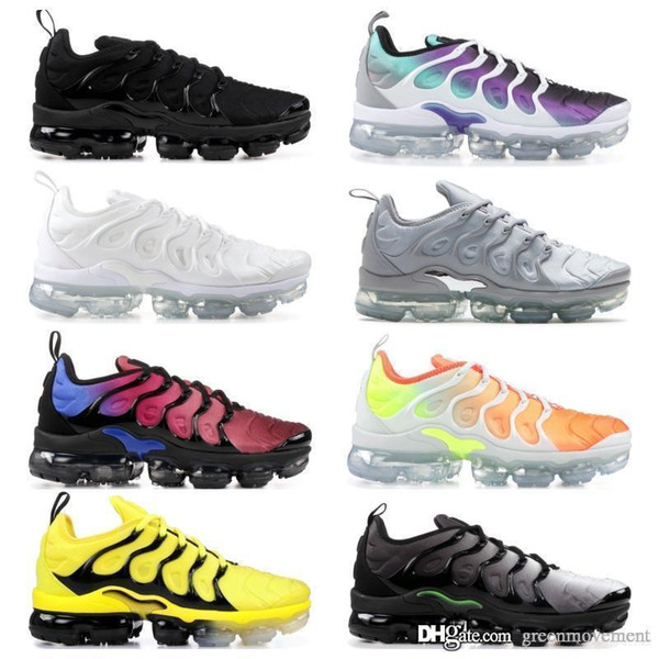 2019 nike vapormax Nuevo diseño de calidad superior TN Mens shOes Breathable Mesh Chaussures Homme Tn REqUin Noir Casual Running ShOes Size 7-12