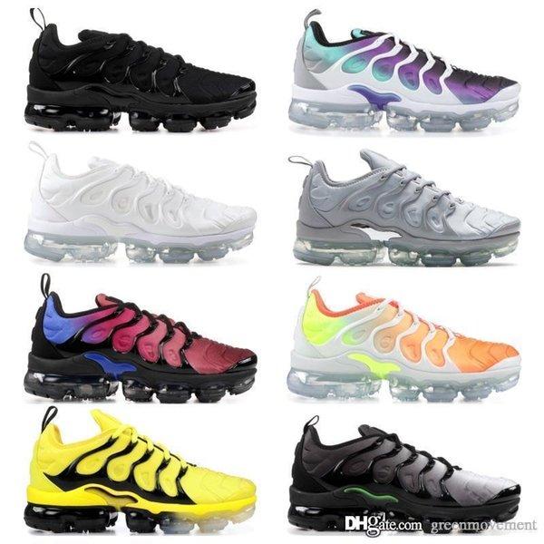 2019 nike vapormax новый дизайн высочайшее качество TN мужская обувь дышащая сетка Chaussures Homme Tn REqUin Noir повседневная обувь для бега размер 7-12