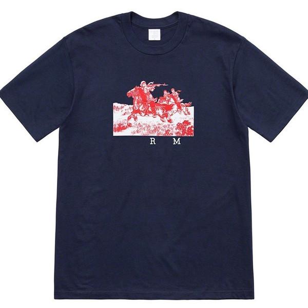 19ss Cavaliers Tee De Luxe Ailes D'aigle Imprimer Femmes Col Rond Tee De Haute Qualité Nouveau Hommes De Conception T-shirts Chemise HFSSTX236