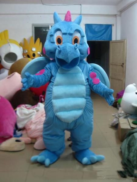 2019 Высокое качество Real Pictures Deluxe Blue Dragon костюм талисмана