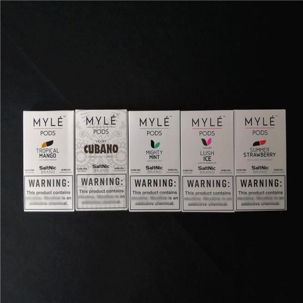 Einweg Myle Vape Pods 0,9 ml Ersatz Fünf Geschmacksrichtungen Pod Patronen für Myle Pen Device Kit Hohe Qualität