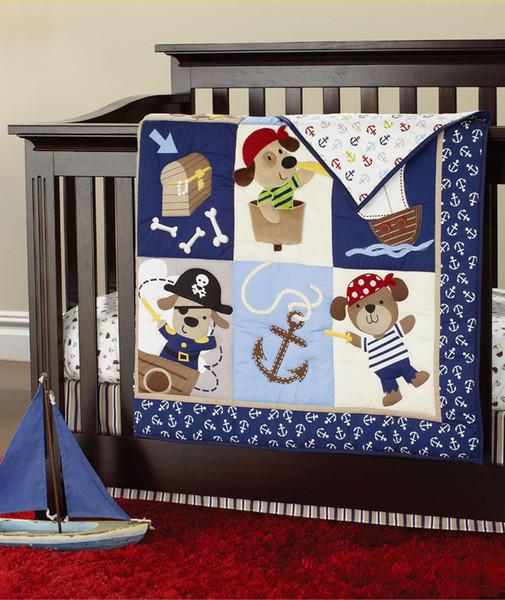 New Fashion Baby bedding set Cotton Baby Quilt delicate Cartoon Crib bedding set Cot Bunper set for newborn baby boy