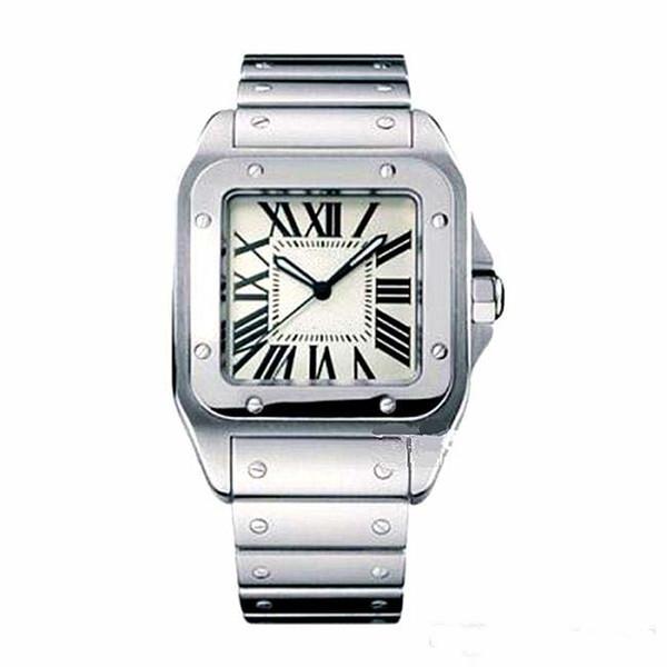 Montres de luxe pour hommes de marque Square, Genève, montres en quartz en acier inoxydable véritable, mode de haute qualité, montres Santo