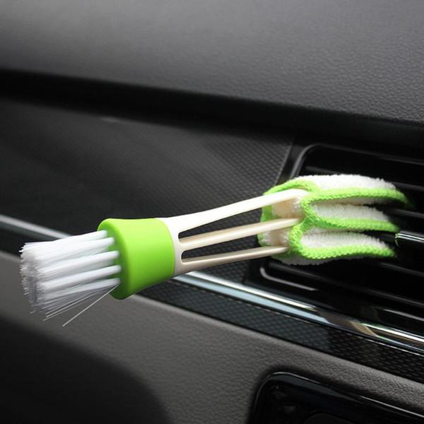 1шт щетка для чистки автомобиля двухсторонний автомобильный кондиционер вентиляционная щель щетка приборная щетка для чистки слепой клавиатуры стиральная машина