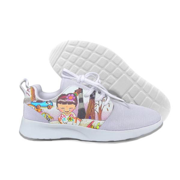 Marca de mulheres Personagem de Banda Desenhada Sapatos de Algodão Harajuku Feminino Bonito Skatebord Sapatos Hipster Moda Animal Print