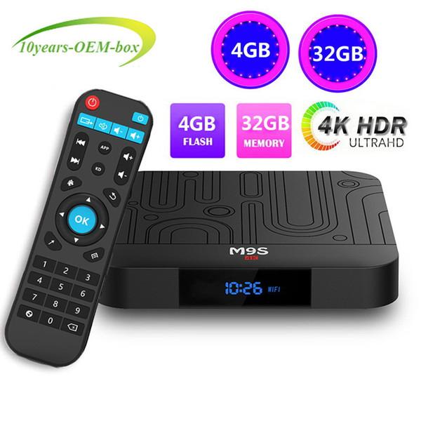 2019 4GB 32GB android 8.1 tv box Rockchip RK3328 M9S J1 Quad core tv box support 2.4G WiFi Bluetooth 4.0 4K ultra smart tv media player
