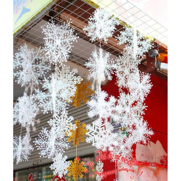 christmas display window artificial snow decoration snowflake string xmas party romantic wedding double side sticker snowflake
