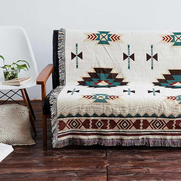 Marvelous 160 220Cm Bohemian Geometric Woven Sofa Covers Blanket Plaids Cotton Quilting Chair Blanket Towel Slipcovers Protect Cover Slip Cover Couches Slip Gamerscity Chair Design For Home Gamerscityorg