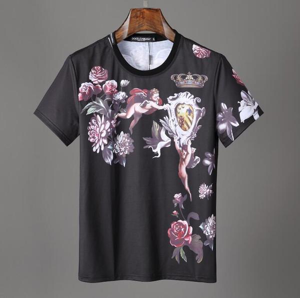 Célèbre Pull T-shirt Hommes Casual Tops De Mode Imprimé Marques Hommes Coton Manches Courtes Tees D'été Haute Qualité hommes de luxe T-Shirt # 050