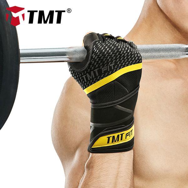 Haltérophilie body building 3 Trous Cuir Gant Avec Poignet Soutien Crossfit