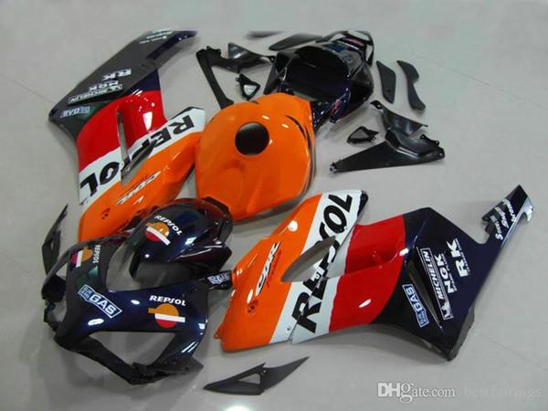 Carene personalizzate gratuite per Honda CBR1000RR 2004 2005 bianco arancio Kit carter iniezione CBR 1000 RR 04 05 DD26