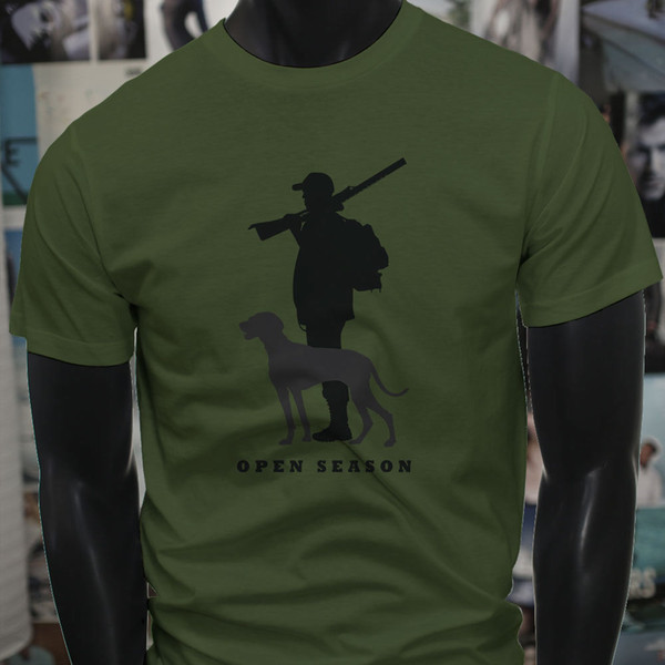 Open Season Hunting Hunter Duck Deer Buck Outdoor Mens Military Green T-Shirt Tshirt Mens France Brand Short Sleeve Young Boy T-Shirt Big an