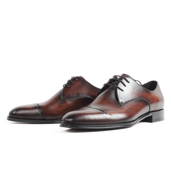 Обувь на заказ ручной работы мужчины натуральная кожа коровы на шнуровке формальная обувь классический свадебный офис Zapato Hombre