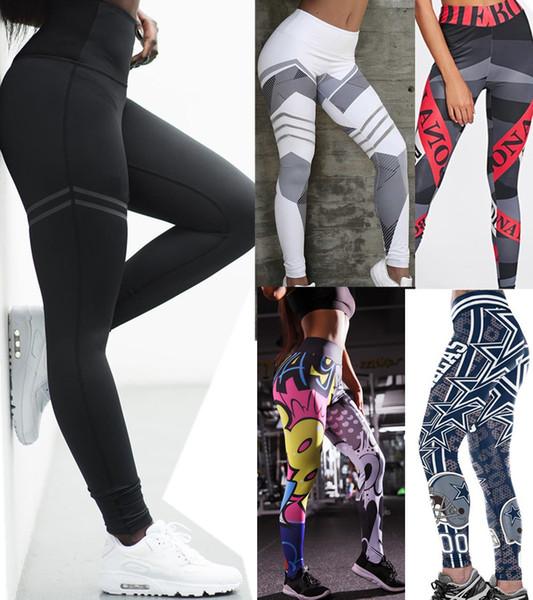 New Hot Womens Sports Leggings Pantalons de yoga Jogging Bande Dessinée Anime Workout Running Leggings Stretch Haute Élastique Gym fitness collants Pantalons de survêtement