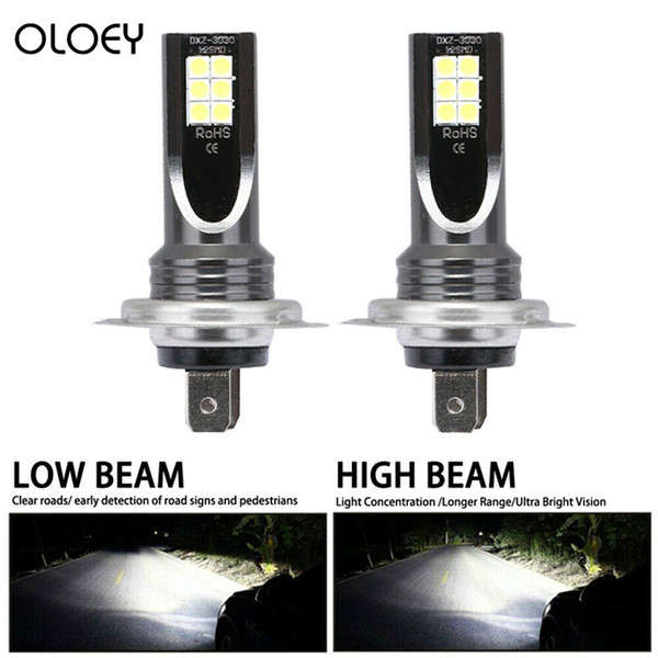 2pcs / Set H7 110W 24000Lm LED phare de voiture Conversion Globes Ampoule faisceau chaud 6000K