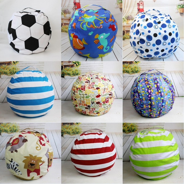 Toy Storage Bag Football Toy Storage Soft Pouch Kids Toys Chair Bedroom Stuffed Bag Ball Shaped Baby Toys Storage Bags