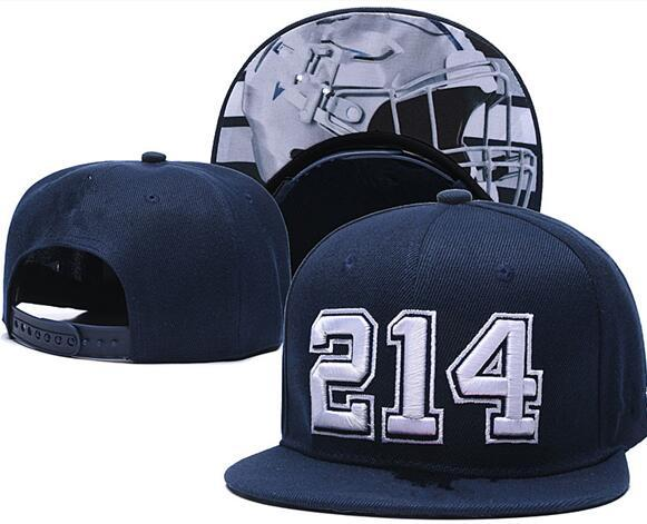 best selling New 2020 Football Snapback Hats Cap Blue Color Team Hats Mix Match Order All Caps Top Quality Hat