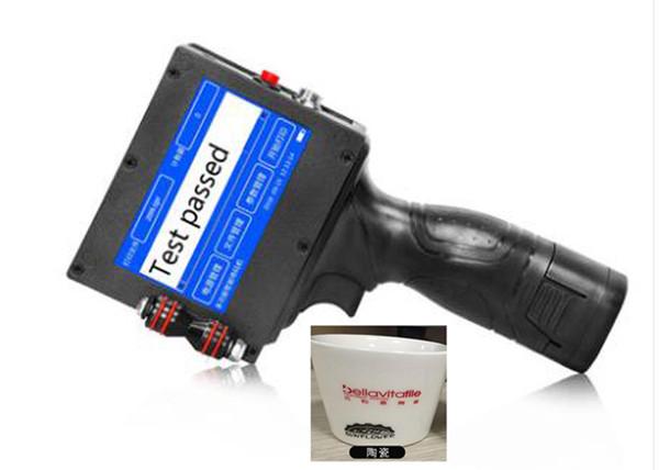 Industrial handheld inkjet printers for bag PE bottle plastic , Inkjet Engine Portable Batch Code Expire Date Lot Number Printing Machine