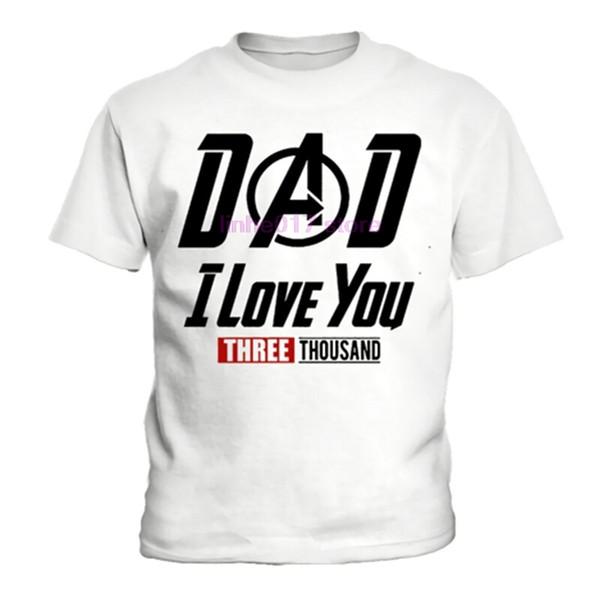 Başar Kupa Aşk BABA T gömlek, Sen Demir Tony Stark Robert Downey Jr T Onesie, Tony Stark seni seviyorum 3000 tony