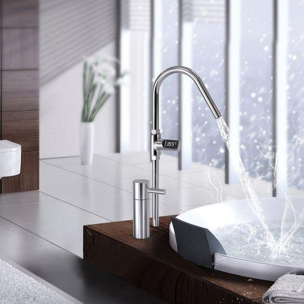 Faucet Ducha Term/ómetro Monitor de temperatura LED Digital Ducha Celsius Temperatura Pantalla Term/ómetro de agua