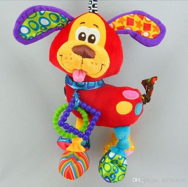 Infantil del bebé animal suave Sonajeros Cama Cuna Cochecito de Música de Bell que cuelga de perro de juguete de peluche de Kawaii para niños juguetes para los niños Muñecas