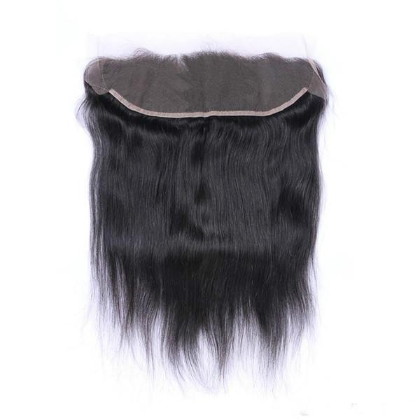 13 * 4 9A droite fermeture de dentelle brésilienne vierge de cheveux humains couleur Natrual 4 * 4 fermeture de dentelle partie libre partie centrale