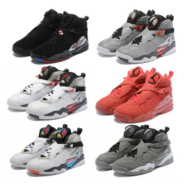 competitive price d8dbd e5185 New 8 White Aqua 8s Hightop Basketball Shoes COOL GREY Tinker Raid Playoffs  Drake White Stealth With Box Men Sports Shoes Basketball Mens Shoes From ...