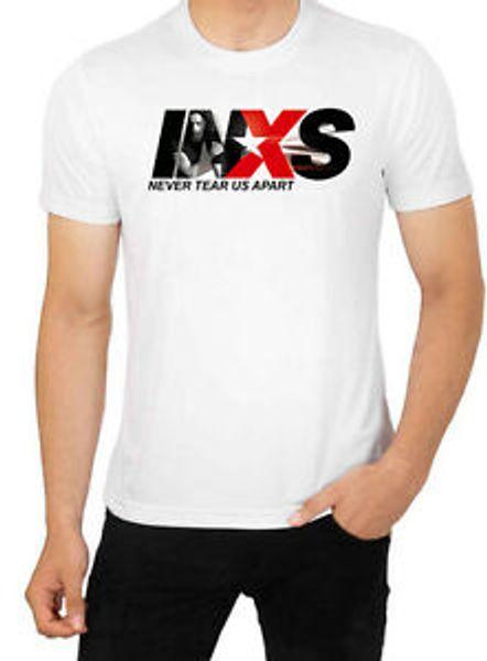INXS Suicídio Loira Homens RoShort-Sleeve Tour T Shirt Banda Punk Pop Homens 039 s Top Alta Qualidade