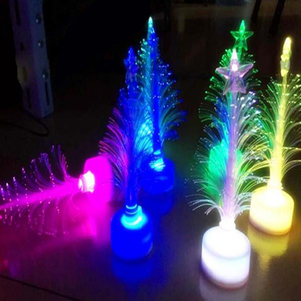 Christmas Tree 7 color Changing Colorful Fiber Optic Nightlight Christmas Tree Party/Indoor/Holiday/Christmas Decor