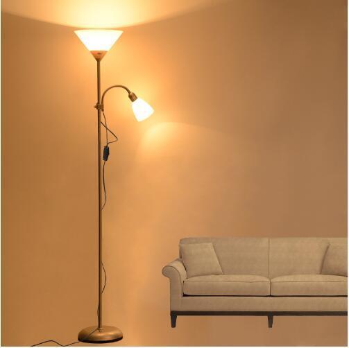 Amerikan Tarzı modern demir boyalı zemin Lambaları ayarlanabilir E27 LED 220 V oturma odası çalışma için yenilik zemin ışıkları başucu ofis