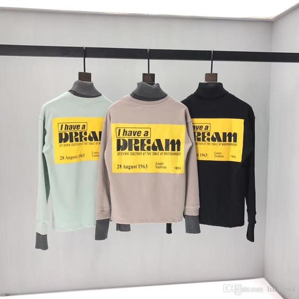 Pull femmes des hommes à manches longues T-shirt col haut en tricot faux deux pièces lettre impression T-shirts modèles sweat-shirt couple de mode 2