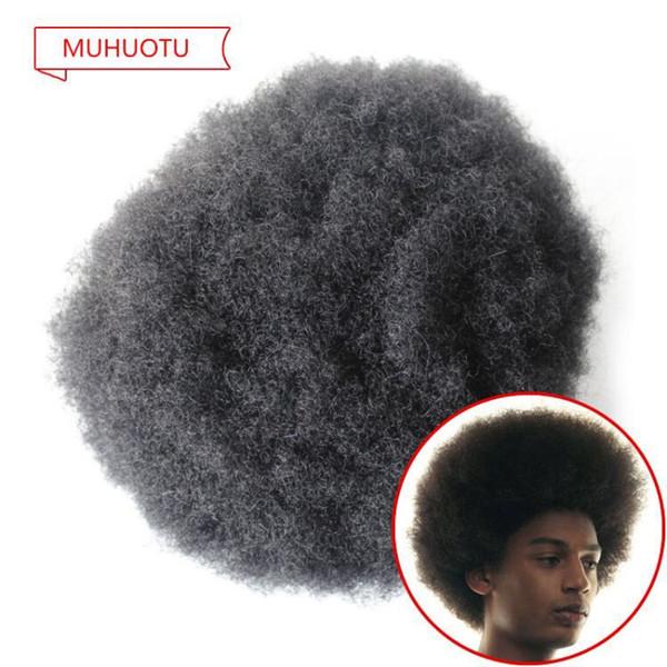 Tam Dantel Afro kıvırcık Saç Peruk afro Kıvırcık Dalga Erkekler Peruk Değiştirme Sistemleri 8x10 Siyah afro Curl Siyah Erkekler için Insan Saç Peruk
