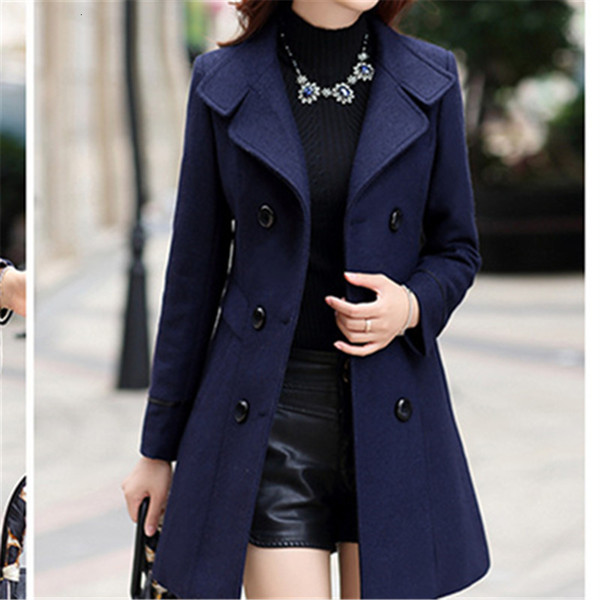 New 2018 Clothing Fashion Bodycon Casual Korean Overcoat Windbreaker Elegant Women Toyouth Long Wool Coat Y191030