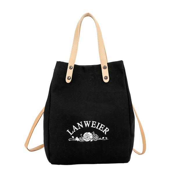 good quality Vintage Women Canvas Handbags Female Hobos Single Shoulder Bag Lady Casual Totes Sling Solid Stylish Handbag Bolsas