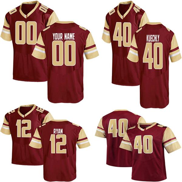 cheap for discount 3465a d9d85 2019 Custom NCAA Boston College Eagle Football Jersey Luke Kuechly Andre  Williams BJ Raji Matt Hasselbeck Doug Flutie Matt Ryan Boston Jersey From  ...