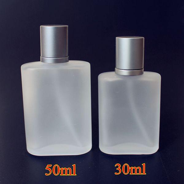 1PC 30ml 50ml Frosted Glass Botellas de perfume vacías Spray Atomizer Botella recargable Aroma Funda con tamaño de viaje portátil