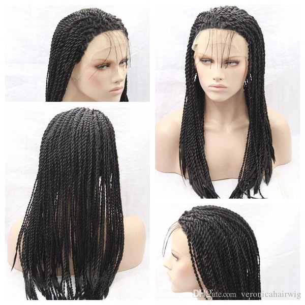 Charming Sexy Twist Braids Lace Front Wigs Black Heat Resistant Lace Front Box Braid Wigs Glueless Lace Box Braids Wigs for Black Women