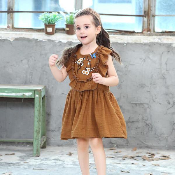 kids casual dresses Girls cute fashion baby girl dresses kids beautiful model dresses wholesale good quality
