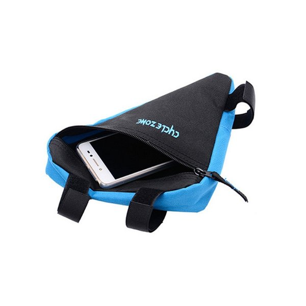 Triangle Cycling Bike Bicycle Front Tube Frame Pouch Bag Holder Saddle Pannier Waterproof for Storing Key Wallets Cell phone M25 #364624