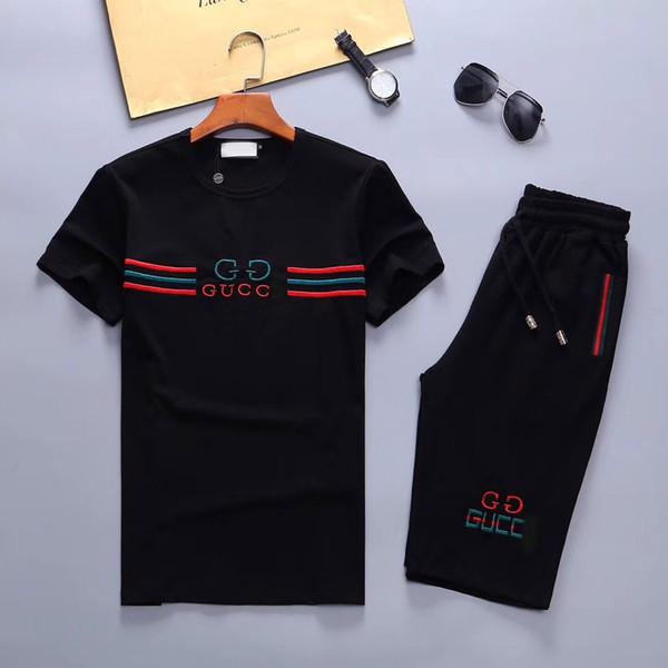Печатный мужской дизайнер короткий весенний спортивный костюм новый спортивный костюм мужской спортивный костюм большой размер M-3XL