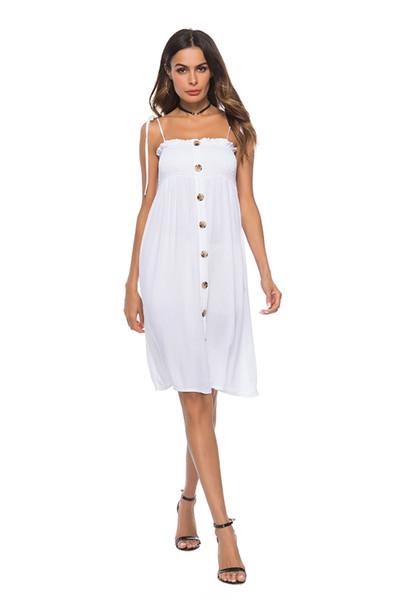 2018 yaz moda kadın patlamalar katı renk seksi sapan sapanlar sarılmış göğüs uzun elbise yüksek bel dikiş büyük salıncak elbise