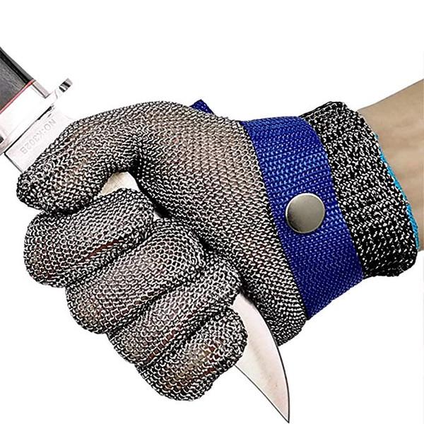 Mutfak Dilimleme Doğrama Peeling M972F Kesme için DHL Kes Dayanıklı Eldiven Paslanmaz Çelik Tel Metal Mesh Butcher Emniyet İş Eldivenleri