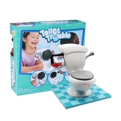 Nuevo Divertido Crazy TOILET TROUBLE Juego de inodoro Juguete de inodoro para niños Bromas prácticas simuladas Mordaza Juego de fiesta para niños Juguetes