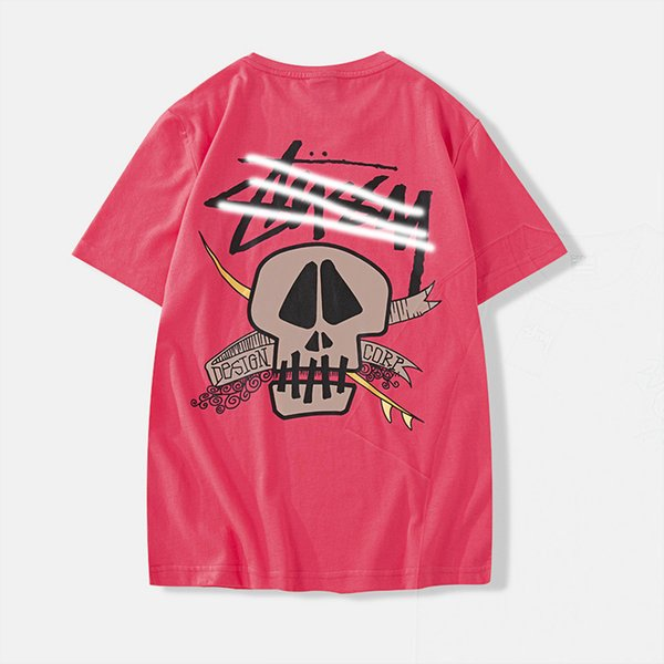 Designer fashion new Tshirt di lusso Stussys marchio Tshirts classico lettera cranio stampa T-shirt in cotone di alta qualità street hip hop T-shirt
